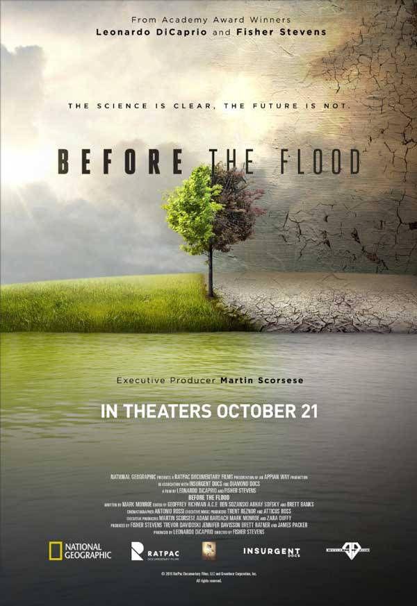 Before the Flood, traduit Avant le Déluge pour nous Francophones, est le nom du nouveau documentaire écologique produit par Leonardo Dicaprio et traitant du réchauffement climatique (le premier avait pour sujet l'impact de la production de la viande et s'intitulait Coswpiracy).