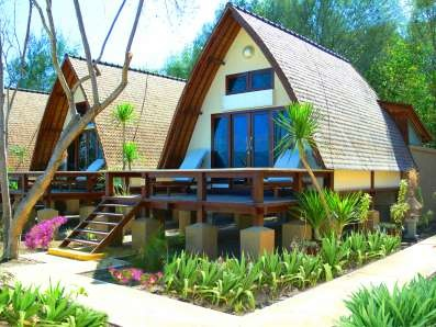 Lumbung Beach Cottage in Indonesia by Ombak Villas #International #Beach