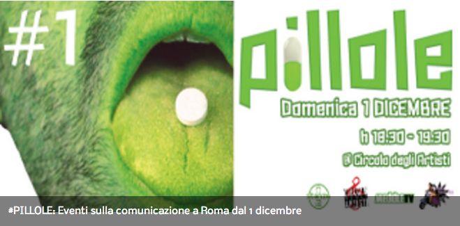#PILLOLE: eventi sulla comunicazione dal 1 dicembre