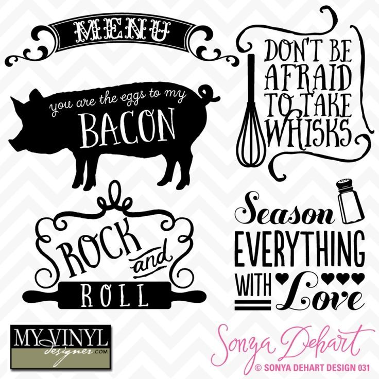 Country Kitchen Sayings And Quotes: Free Kitchen Designs That Would Look Great In Vinyl