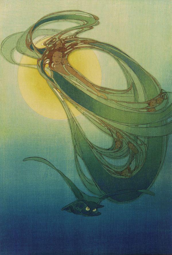 Old Mother West Wind 1921 Bertha Lum  , (American,  1864 - 1954)  Taisho era