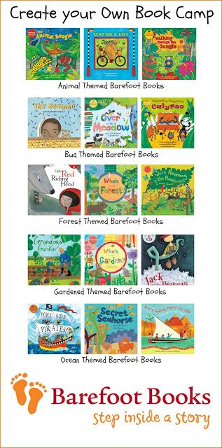 Create your Own Book Camp with Barefoot Books.  Sharing fun themes and my top choices of books!  Kim @ The Educators' Spin On It