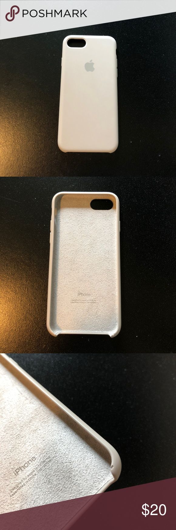 Apple iPhone 7 Case In perfect condition aside from two place on the bottom of case (shown in pictures). A light gray/purple color. apple Accessories Phone Cases