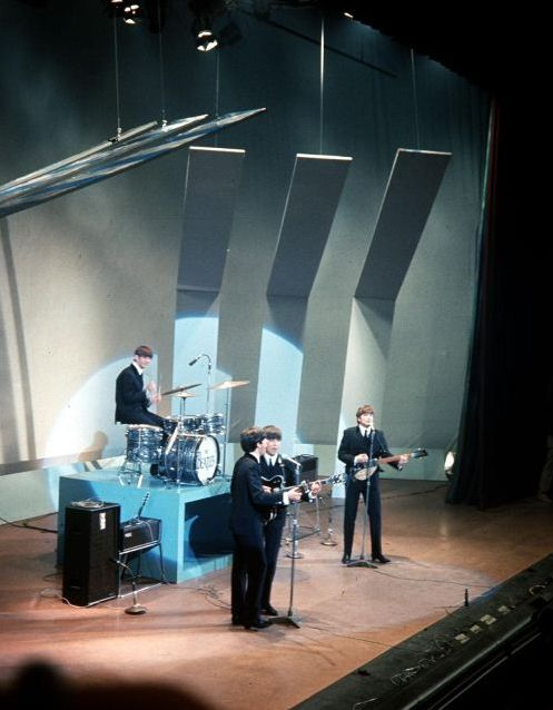 "7th December 1963.The Beatles performing on a BBC TV Special ""It's the Beatles"" recorded at the Liverpool Empire."