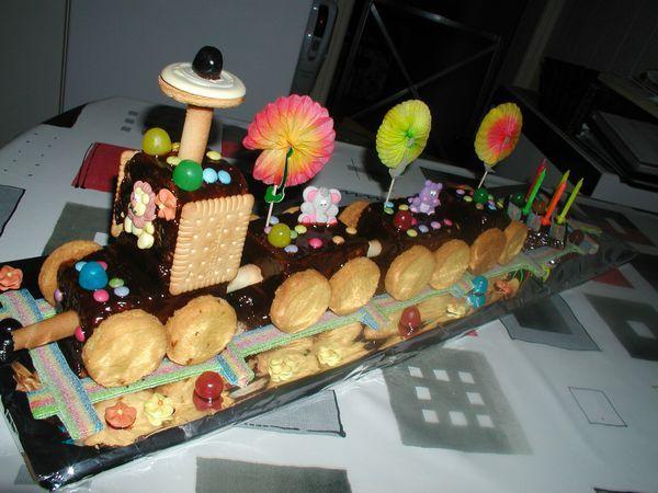 Le gâteau petit train
