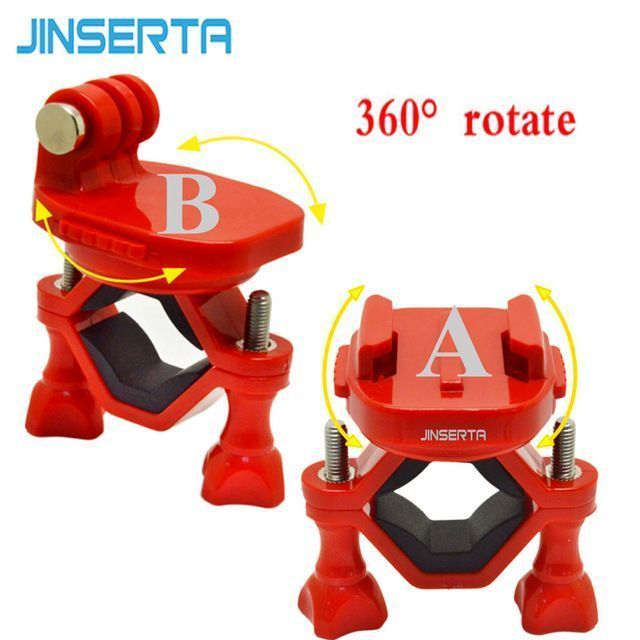 Best Buy $5.27, Buy JINSERTA Sports Camera Accessories 360 Degree Rotate Monopod for Bike Motorcycle Stand Mount Holder for Gopro Xiaomi Yi sjcam