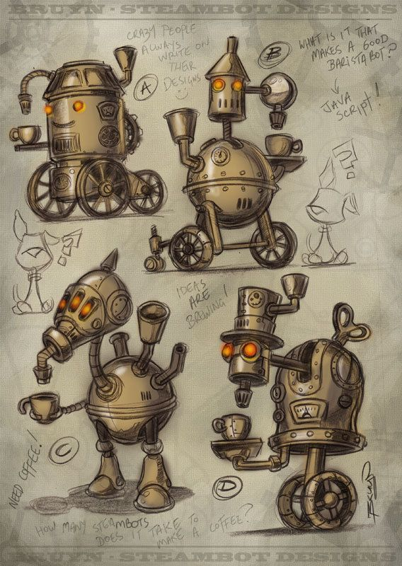 Steampunk Substation B by Craig Bruyn, via Behance