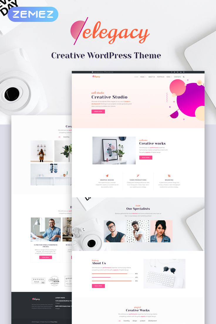 Elegacy - Creative #Elementor #WordPress #Theme. #Save 30% OFF on this product Hurry up! It's a limited time proposition. Old Price: $75. Now: $53 ;)  #webtemplate #webdesign  #website