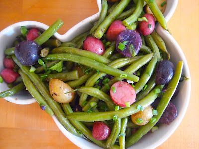 Grade B just because they are pretty.  Would be a C otherwise. green bean potato salad -  Good but nothing special except for the pretty colored potatoes.  Looked GREAT on the easter buffet - KB