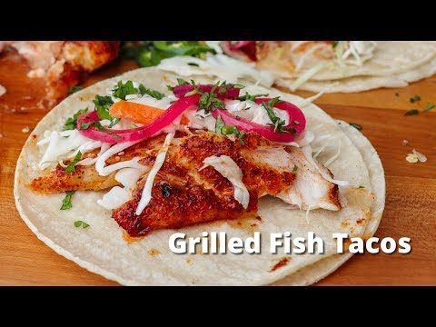 Grilled Fish Tacos Recipe Grilled Fish Tacos Fish Tacos Green Egg Recipes