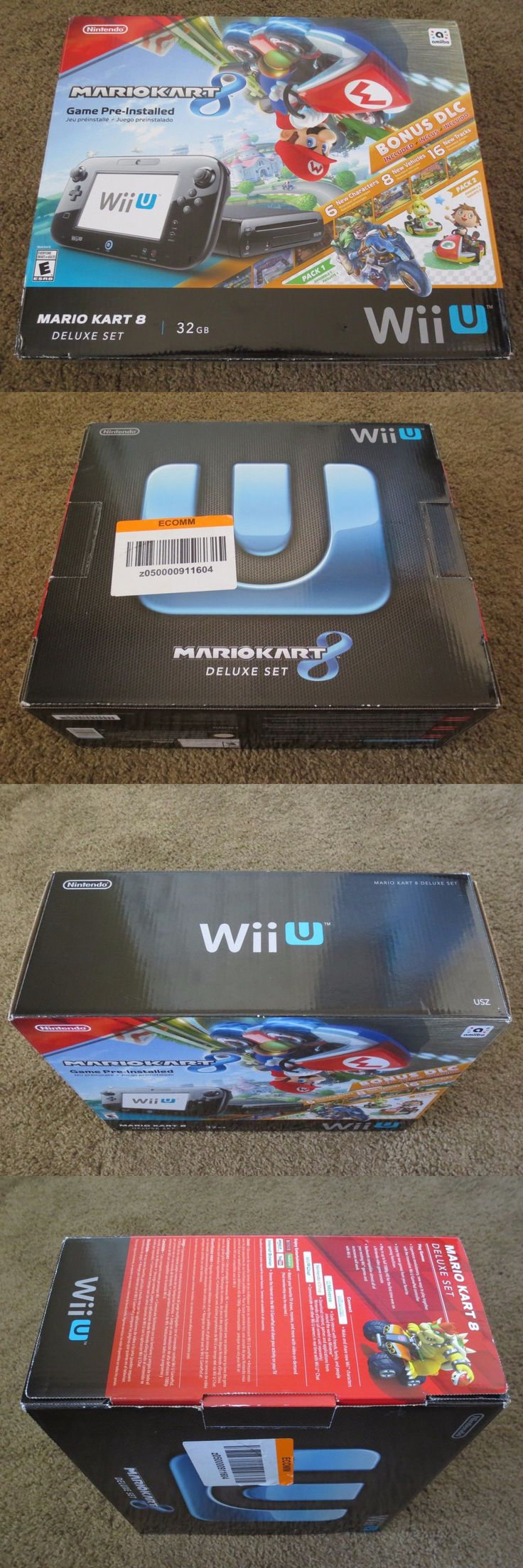Video Gaming: New Nintendo Wii U Mario Kart 8 Pre-Installed Edition 32Gb Console System Black -> BUY IT NOW ONLY: $449.9 on eBay!