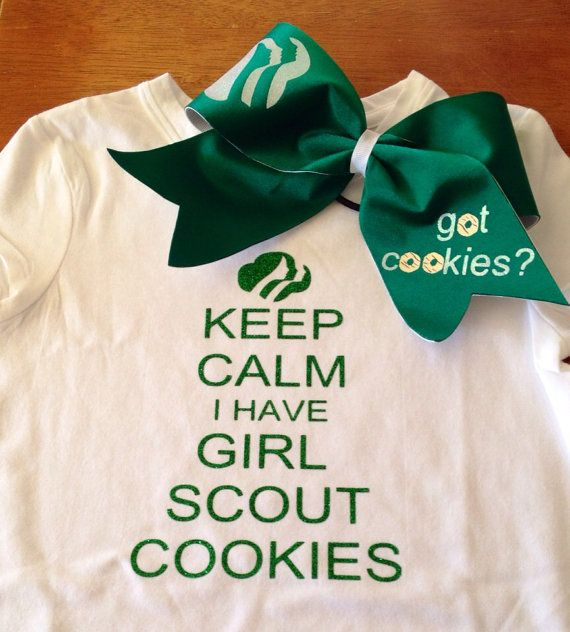 Hey, I found this really awesome Etsy listing at https://www.etsy.com/listing/179010216/glitter-girl-scout-cookies-shirt-bow