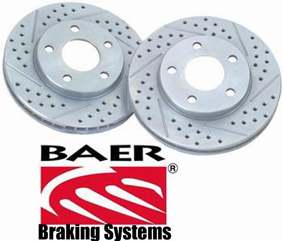 Chevrolet Tahoe 00-02 Cross Drilled Baer Brake Rotors