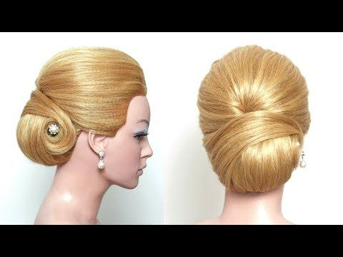 Bridal Wedding Updo Hairstyle For Long Hair Tutorial Youtube
