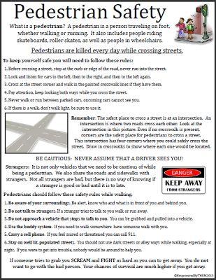 free life skills worksheet pedestrian safety special education ideas resources life. Black Bedroom Furniture Sets. Home Design Ideas