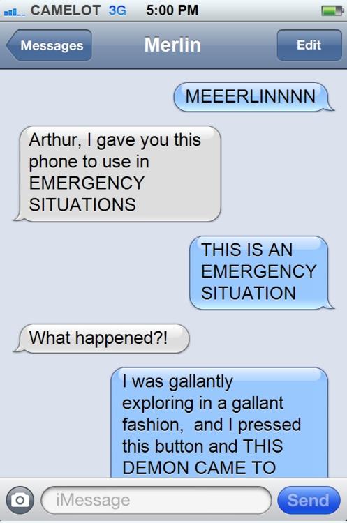 Texts from Arthur - click through. HILARIOUS. Tumblr