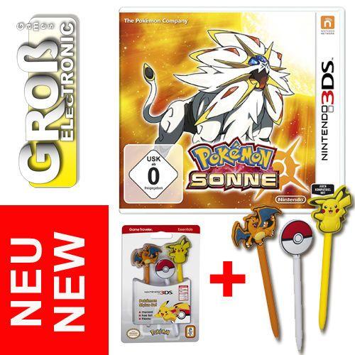 Pokemon Sonne Sun Spiel Nintendo 3DS + Stylus Stift Pokémon 2DS 3DS XL NEU OVP