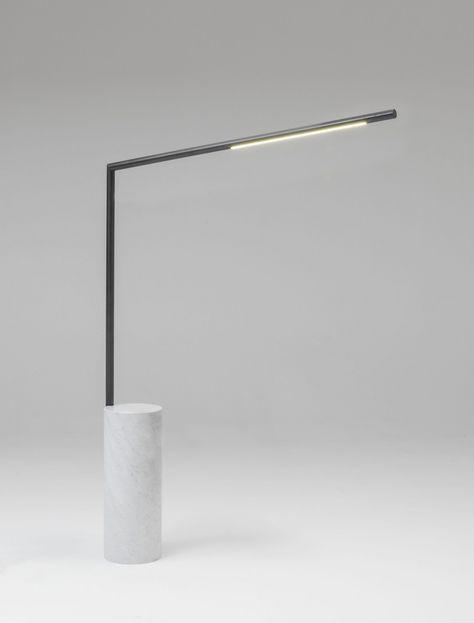 LAMPADA DA LETTURA A LED IN OTTONE E MARMO KLEA   LAMPADA DA LETTURA BY NAHOOR   DESIGN WILLIAM PIANTA