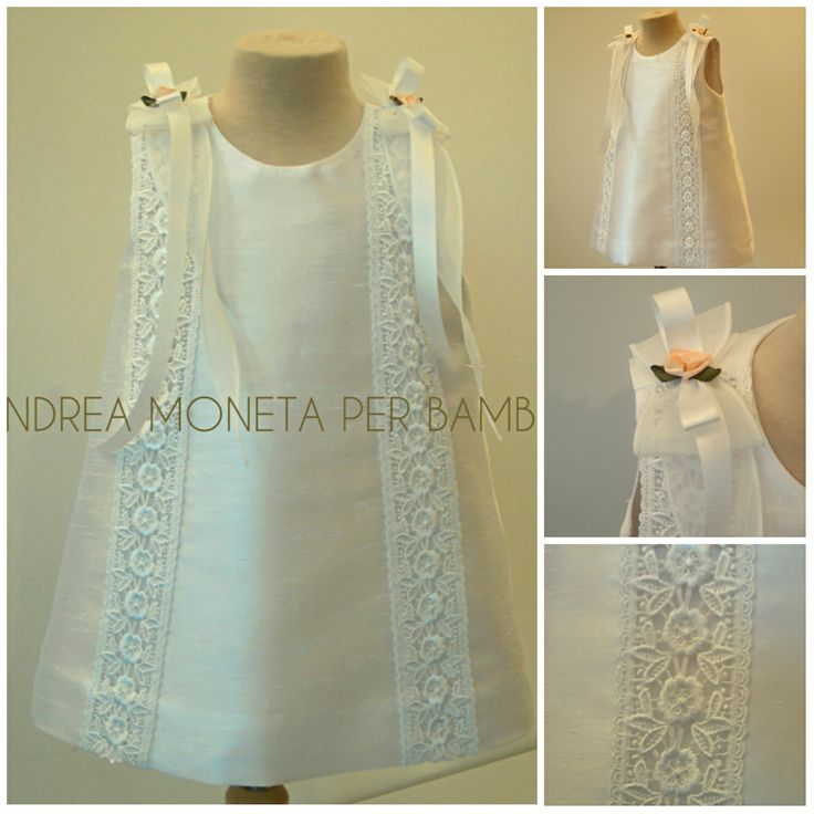170. Vestido de Shantung Importado y Tira Bordada Europea para Bebe o Niña. Ideal para Bautizo, Cortejo de Bodas, Fiesta, Cumpleaños // Ivory Dress for Baby Or Girl, Ideal for Christening, Wedding, Party and More. www.andreamoneta.wix.com/perbambini Argentina www.andreamoneta.dmtienda.com Venezuela www.amonetah.mercadoshops.com.ve