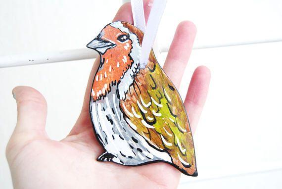 Robin Christmas ornament Robin bird ornaments Robin gifts