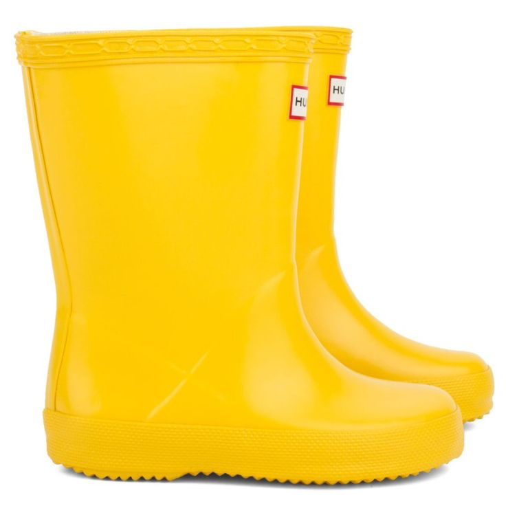 Hunter Kids First Classic Yellow Wellington Boots? Puddle perfect.