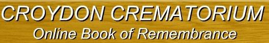 Online Book of Remembrance for Croydon Crematorium