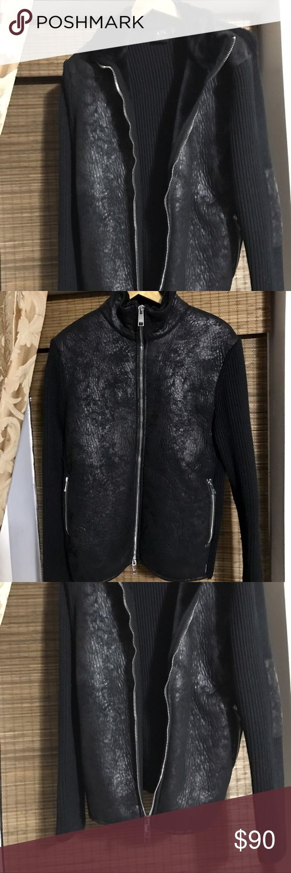 A/X Armani Exchange zip cardigan winter 2015 Armani Exchange zip cardigan jacket , from winter 2015 collection, worn once looks like brand new A/X Armani Exchange Jackets & Coats