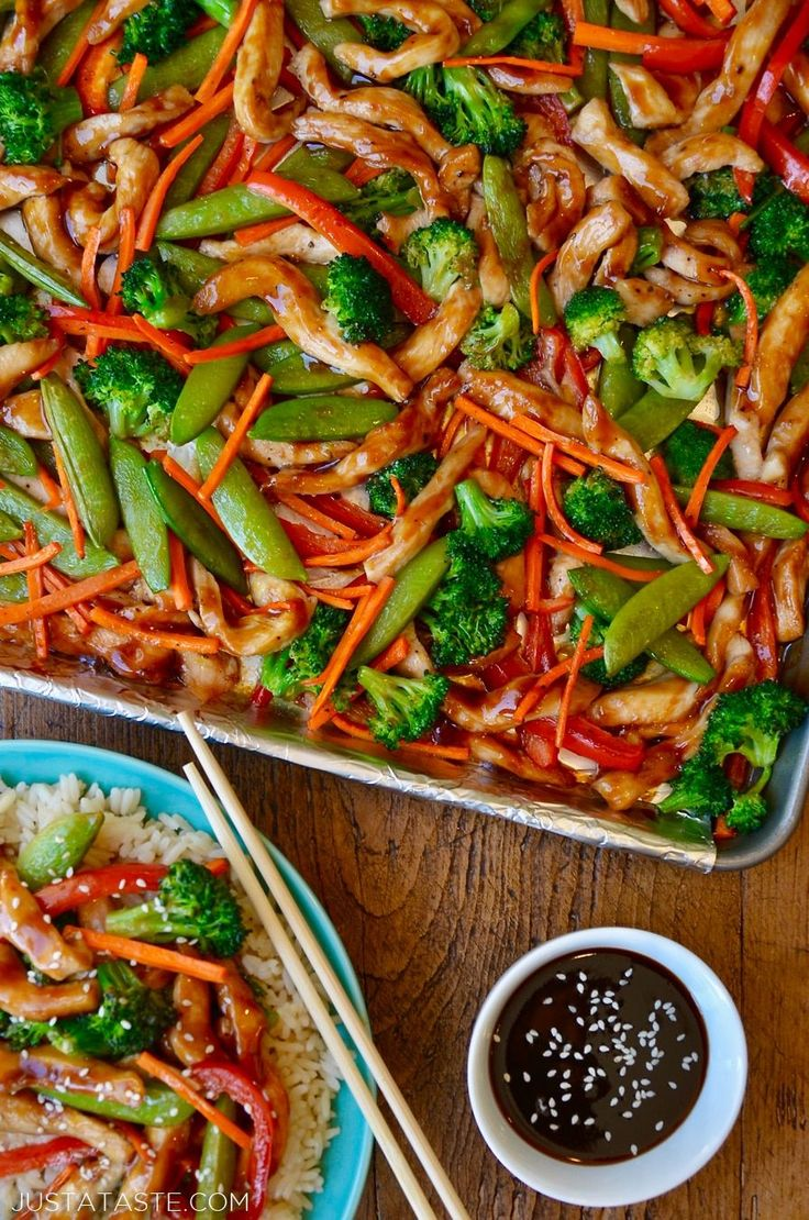 Make meal time a breeze with this quick, easy and minimal mess recipe for Sheet Pan Chicken Teriyaki and Veggies.