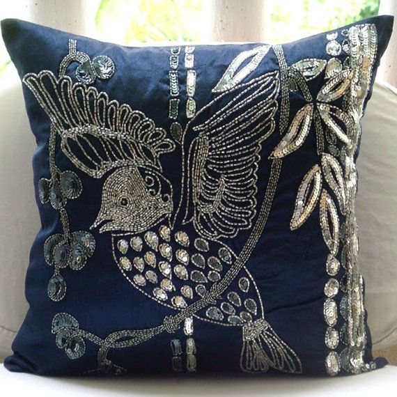 Decorative Pillow Sham Covers 24x24 Embroidered by TheHomeCentric
