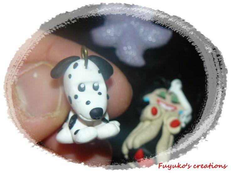 Dalmatian dog -polymer clay-