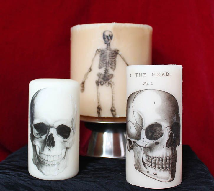 gina michele diy printed halloween candles
