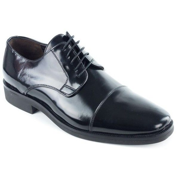 Bruno Magli Mens Black Calf Leather Maly Derbys Oxfords (£140) ❤ liked on Polyvore featuring men's fashion, men's shoes, men's oxfords, black, shoes, mens shoes, mens derby shoes, men's blucher shoes, mens black oxford shoes and mens oxford shoes
