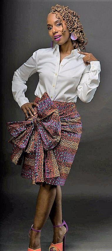 The K U F U N G A Skirt Made from African Dutch Wax  ~DKK ~ Latest African fashion, Ankara, kitenge, African women dresses, African prints, African men's fashion, Nigerian style, Ghanaian fashion.