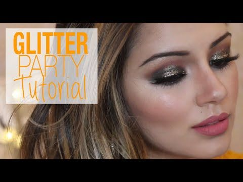 Tutorial | Glittery Bronzed Party Makeup & Hair Tutorial | Kaushal Beauty - YouT...