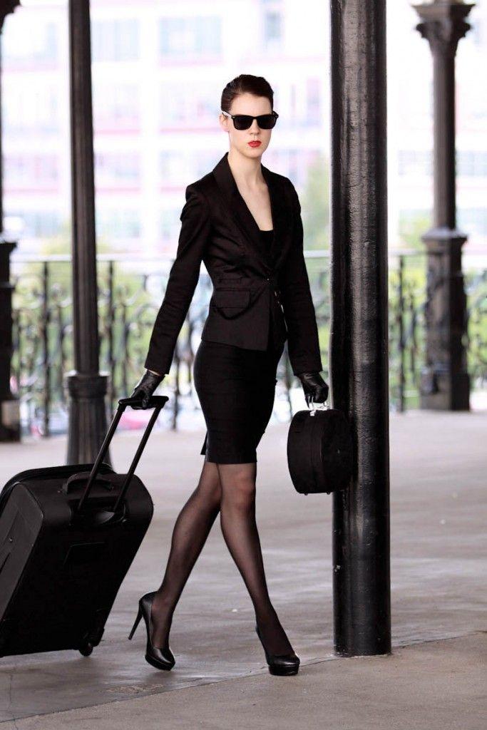 Beautiful Sexy Rich Business Woman Red Stock Photo