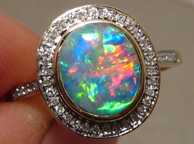 opal most black unique rings engagement from rainbow etsy