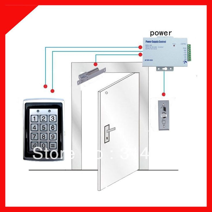 Diy контроль доступа комплект 125 кГц rfid-считыватель управление доступом дверные замки комплект + ID карты брелоков