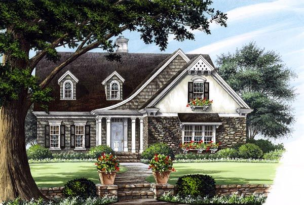 Cottage Country Craftsman European House Plan 86123