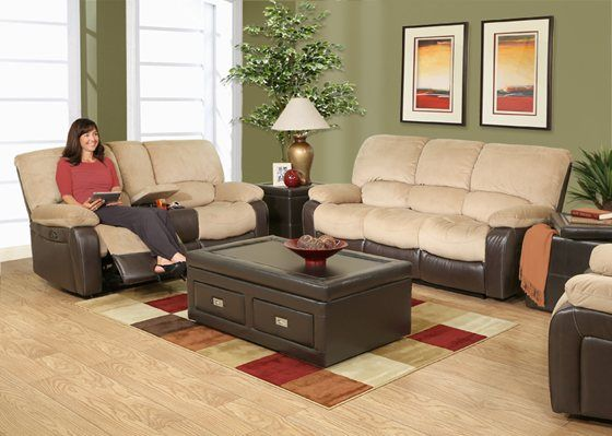 With This Knox 5 Piece Living Room Set Thereu0027s Enough Space For Everyone.  Even The Part 38