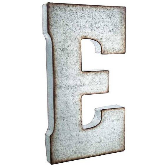 Galvanized Metal Letter Large Metal Letters 7 or 20 inch