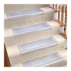 Clear Vinyl Stair Tread Improvements Area Rugs