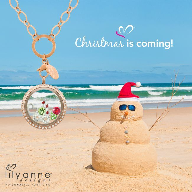 {Guess what...?} CHRISTMAS IS COMING!! That means lots of things to lots of people. To us... it's family, BBQs and the beach! #LilyAnneDesigns #PersonalisedLockets #CapturingMoments #FreeToBeMe #Christmas