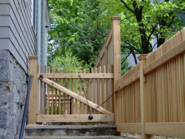 113 Best Images About Wood Fence Gate On Pinterest