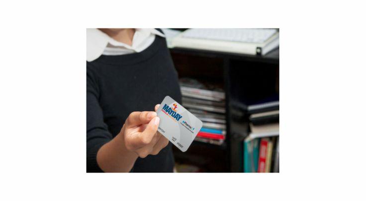 Cartão em PVC para o serviço MAYDAY da empresa QG CONTACT CENTER.