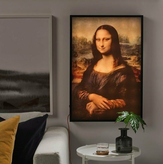 Virgil Abloh Off White X Ikea Mona Lisa Back Lit Wall Art Louis Vuitton Menswear Designer Collaborat Mona Lisa Artwork Ikea
