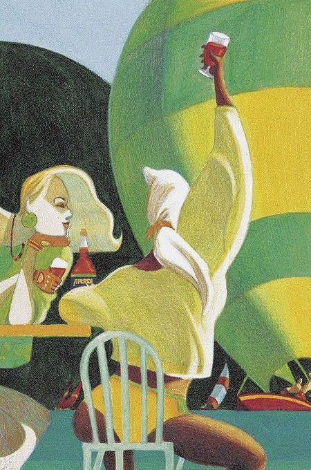 """Aperol """"Regatta"""" Poster, by Lorenzo Mattotti"""