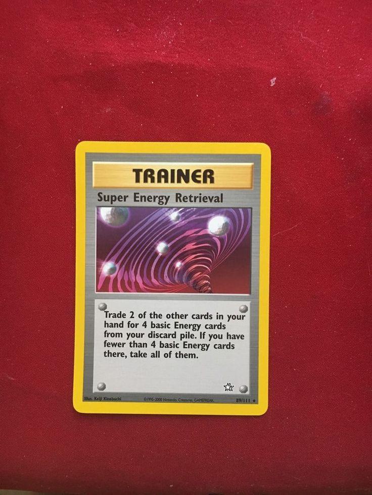 Super Energy Retrieval Pokémon Card eBay Pokemon cards