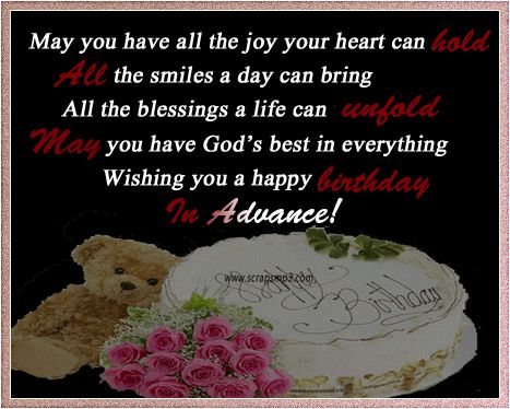 Words Wishing Someone A Happy Birthday Advance Birthday Wishing Someone Happy Birthday