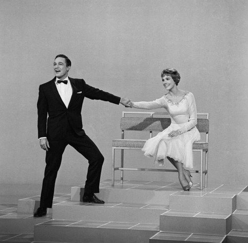 """Julie Andrews and Gene Kelly singing """"Just In Time"""" on the Julie Andrews Show"""