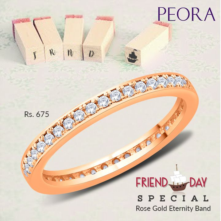 Gift your #bff this #gorgeous #Ring on #FriendshipsDay with a #Personalised message #engraved on it only from #Peora http://bit.ly/29ZHLE2